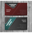 Abstract creative business cards set vector
