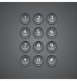 Modern phone keypad background vector