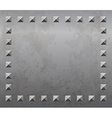 Metal background with rivets vector