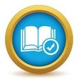 Selected book icon vector