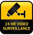 Video surveillance symbol punched metal surface vector