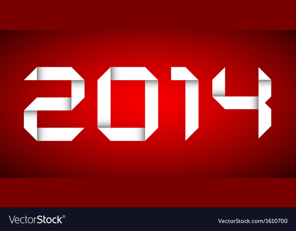 2014 happy new year card red background vector | Price: 1 Credit (USD $1)