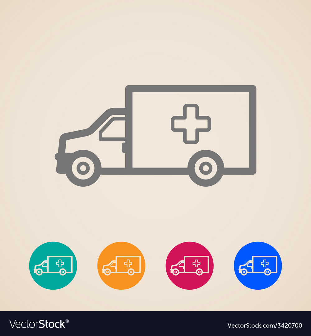 Ambulance car icons vector | Price: 1 Credit (USD $1)