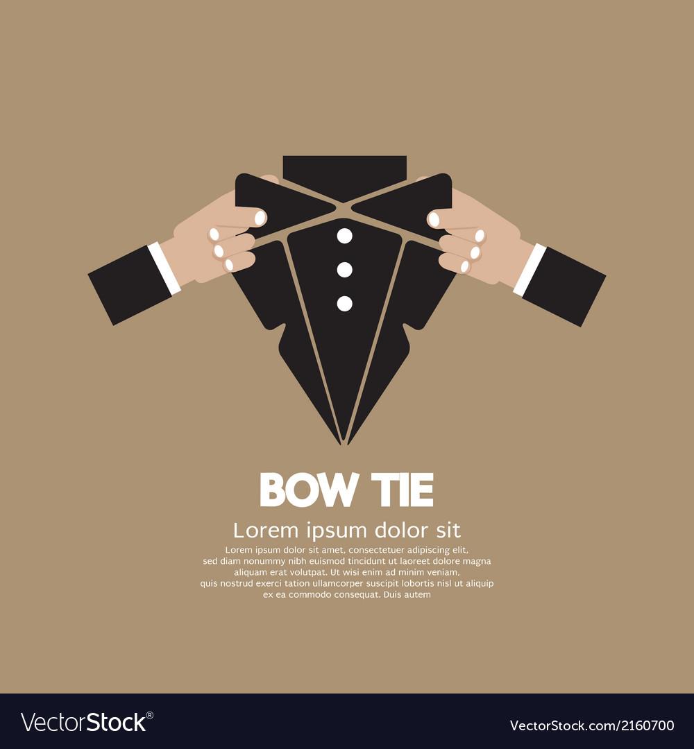 Bow tie vector | Price: 1 Credit (USD $1)