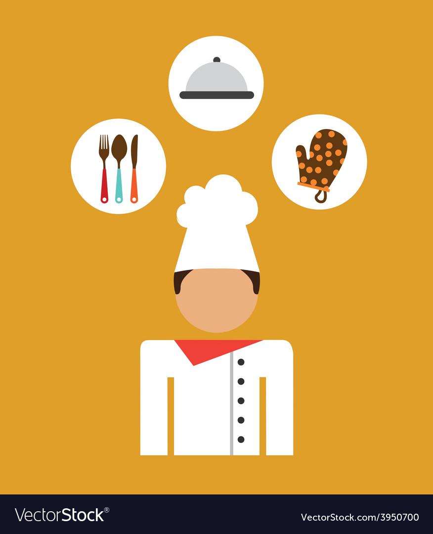 Chef man vector | Price: 1 Credit (USD $1)
