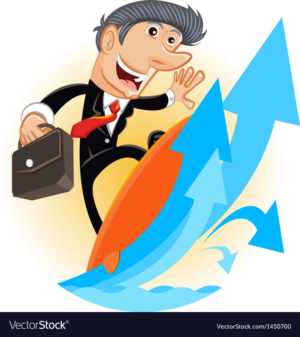 Climbing up corporate ladder vector | Price: 3 Credit (USD $3)