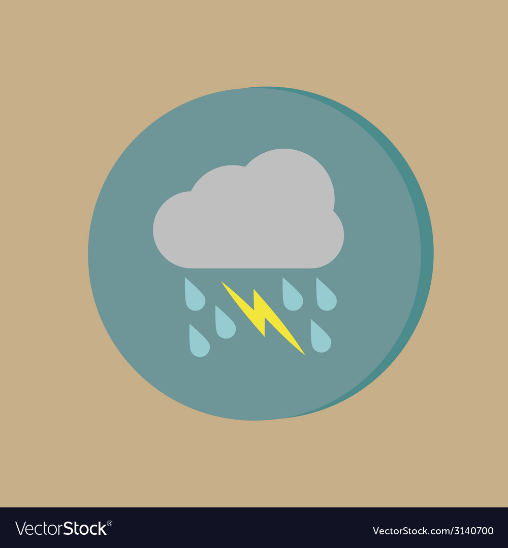 Cloud rain lightning the weather icon vector | Price: 1 Credit (USD $1)