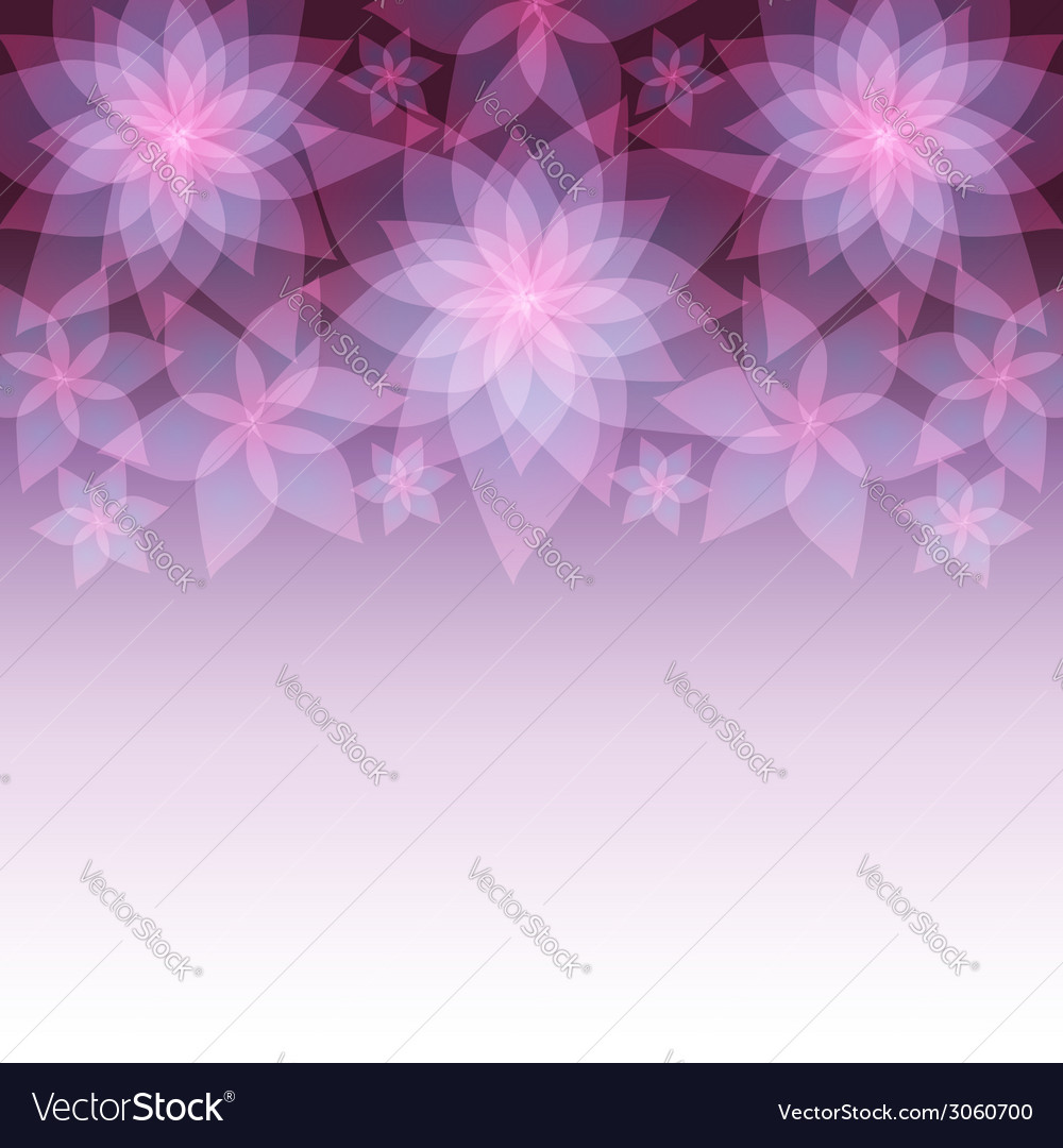 Decorative abstract background with flower lily vector