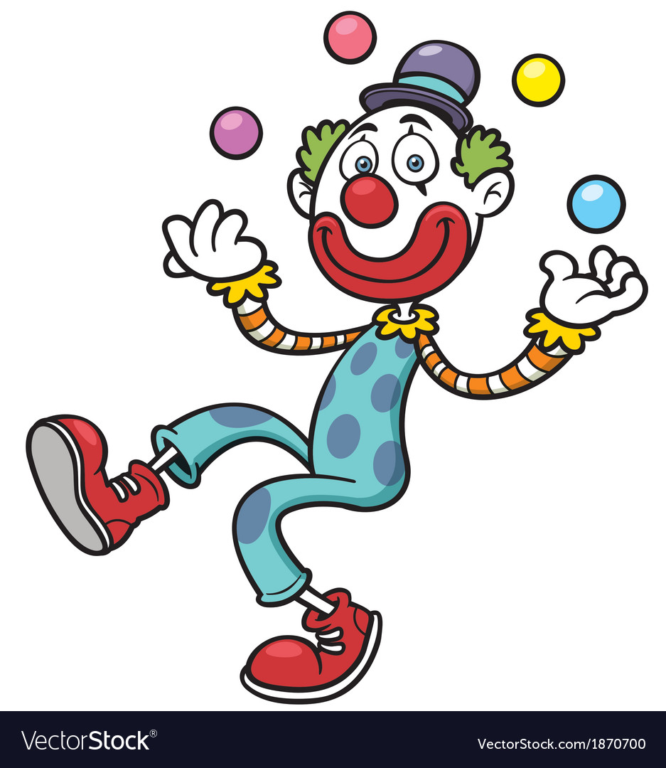 Funny clown vector | Price: 3 Credit (USD $3)