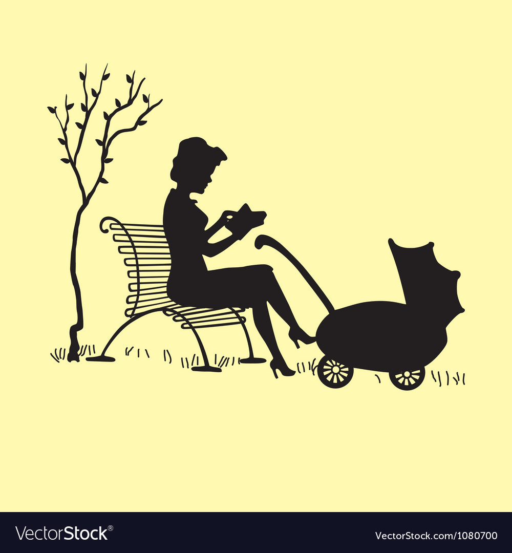 Motherwithcarriage vector | Price: 1 Credit (USD $1)