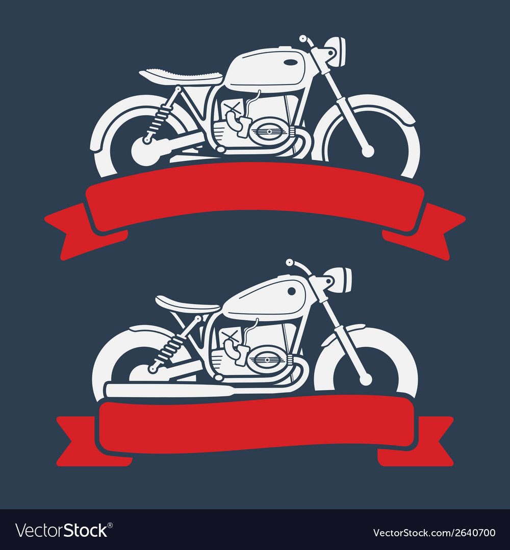Retro motorcycle logo set vector | Price: 1 Credit (USD $1)
