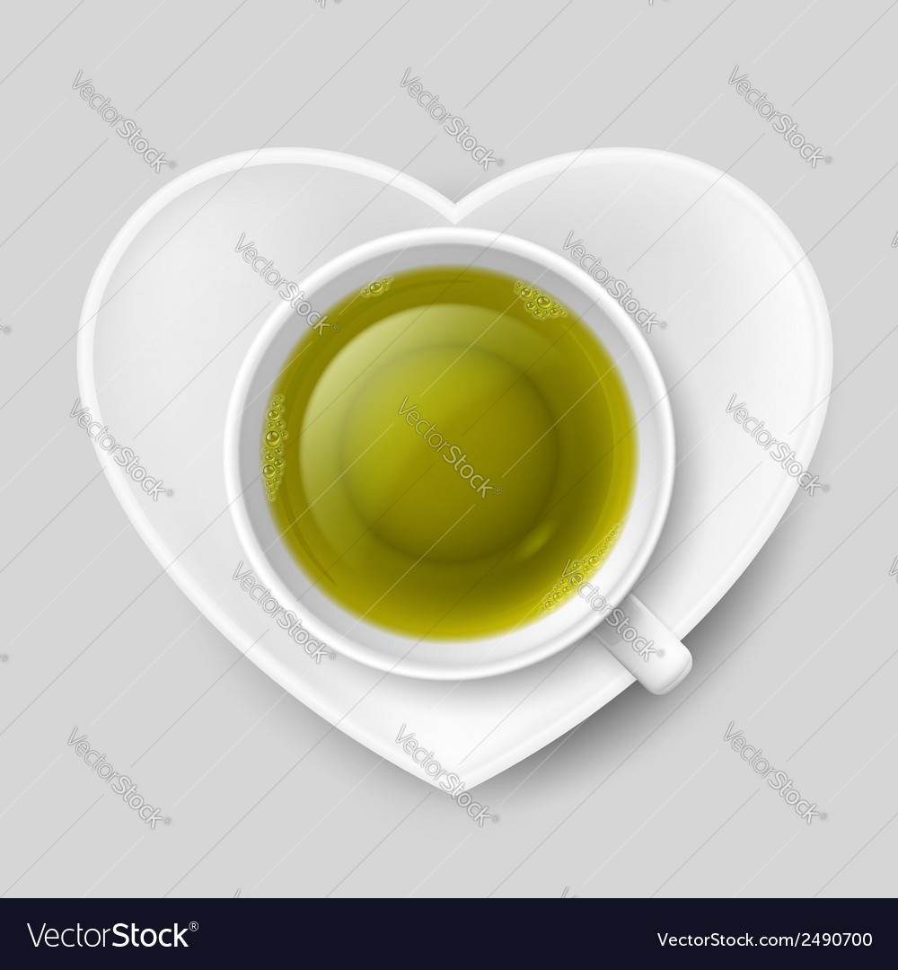 Romantic tea drinking vector | Price: 1 Credit (USD $1)