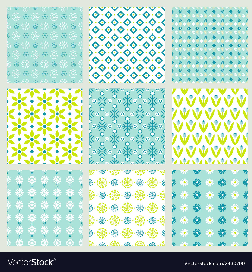 Spring floral patterns vector | Price: 1 Credit (USD $1)