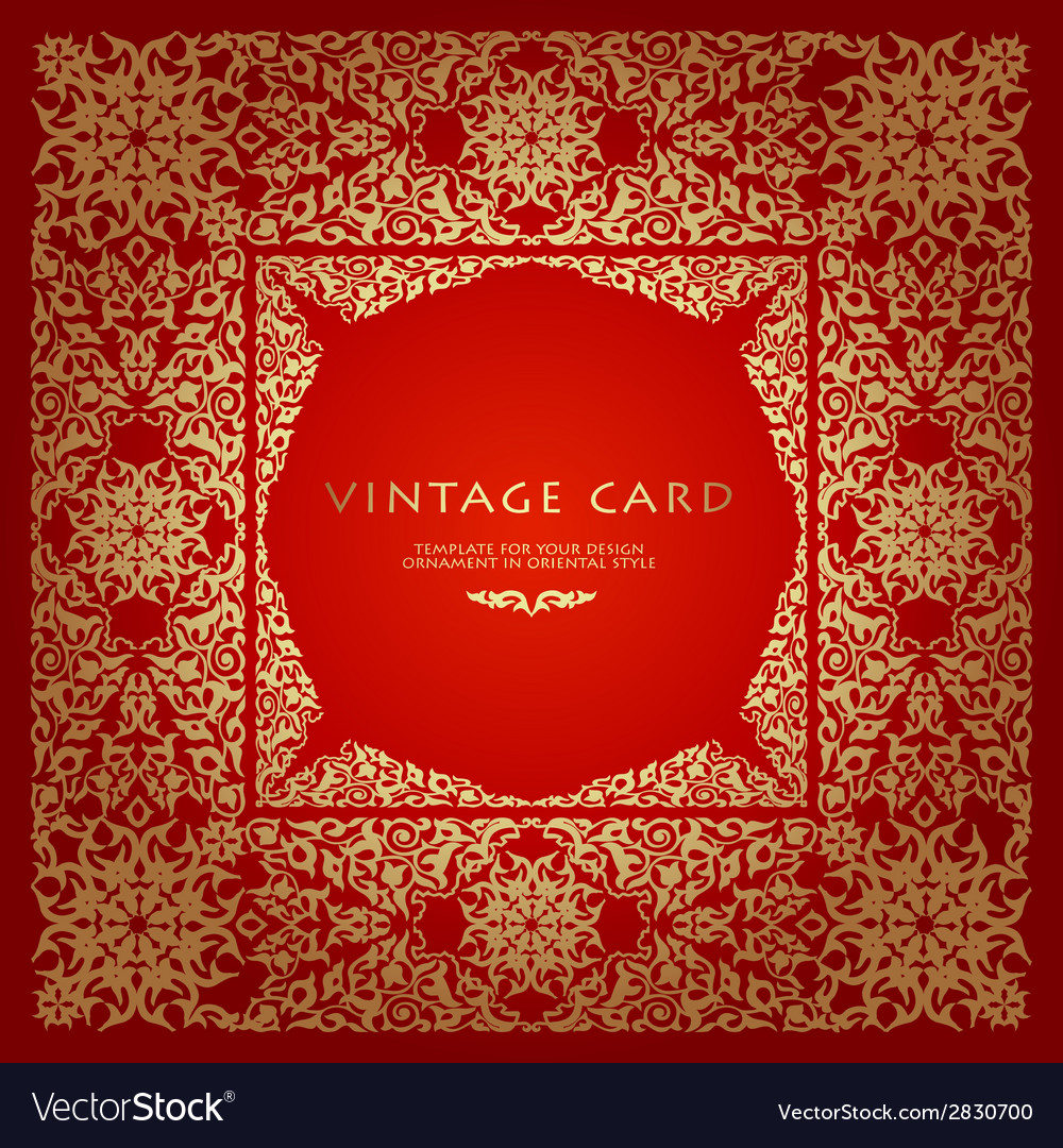 Vintage background traditional islamic motifs vector | Price: 1 Credit (USD $1)