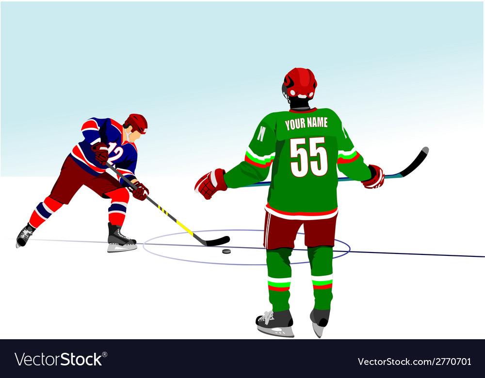 Al 0834 hockey 03 vector | Price: 1 Credit (USD $1)