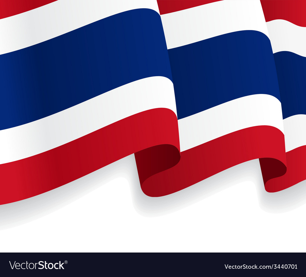 Background with waving thai flag vector | Price: 1 Credit (USD $1)