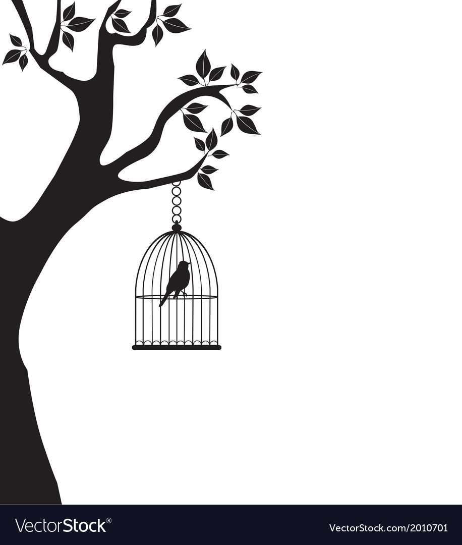 Bird cage tree vector | Price: 1 Credit (USD $1)