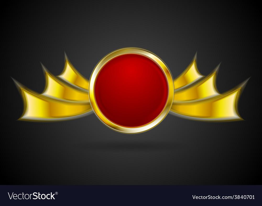 Bright golden logo element vector   Price: 1 Credit (USD $1)