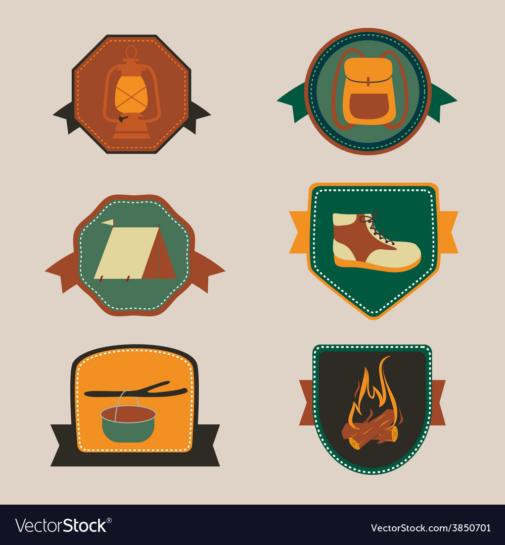 Camping awards vector | Price: 1 Credit (USD $1)