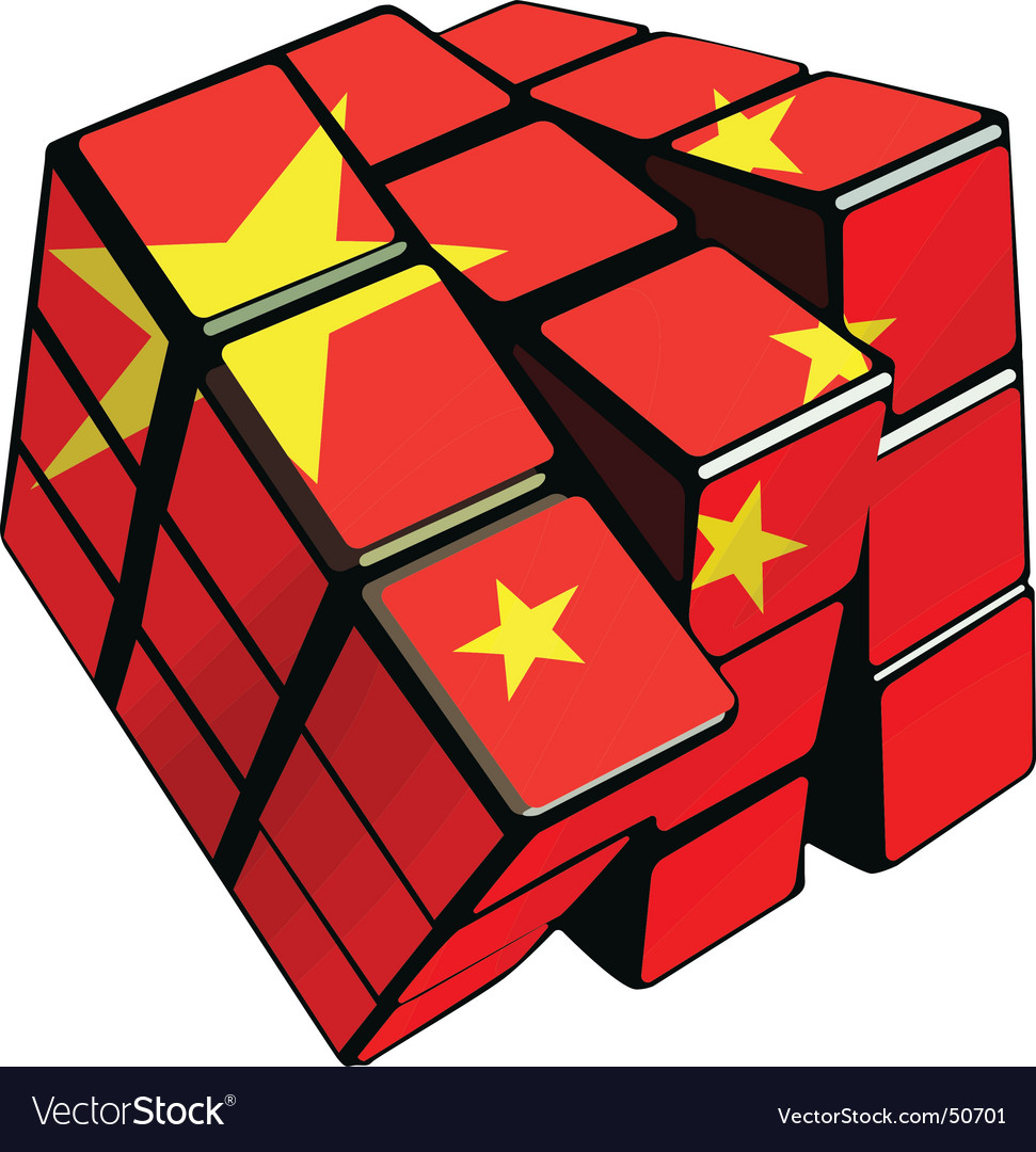 Chinese cube vector | Price: 1 Credit (USD $1)