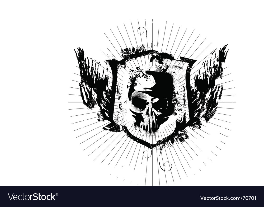 Ink skull vector | Price: 1 Credit (USD $1)