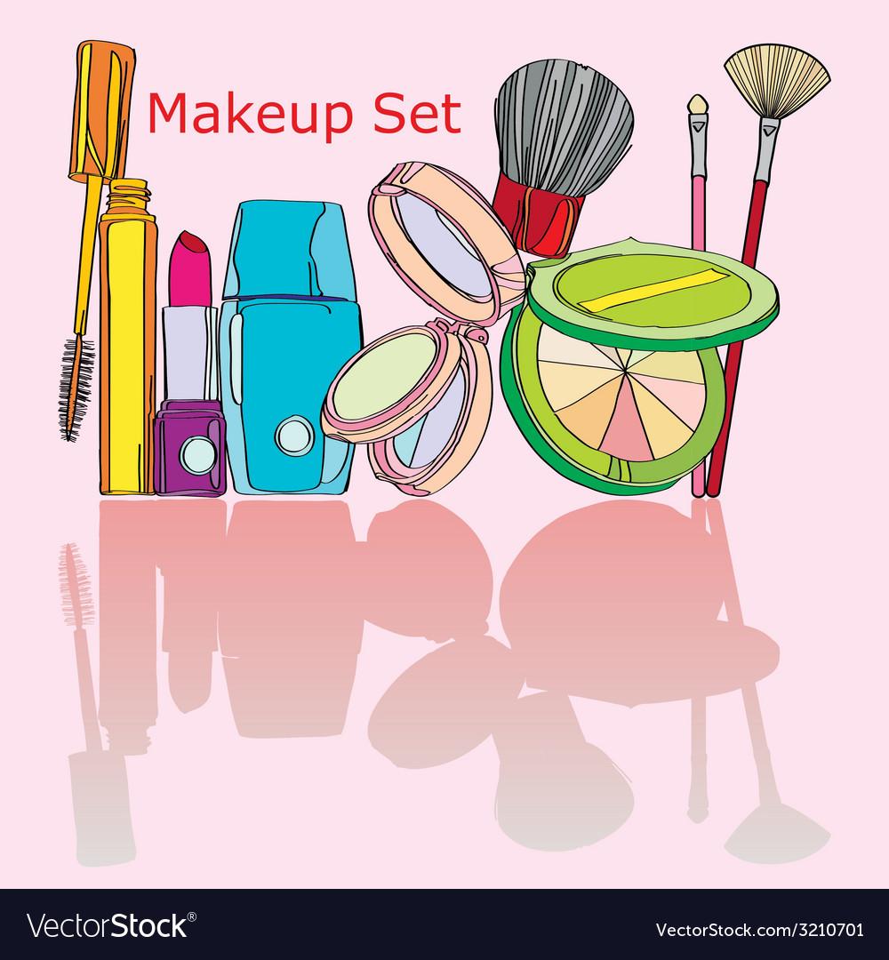 Multicolored cosmetics vector | Price: 1 Credit (USD $1)