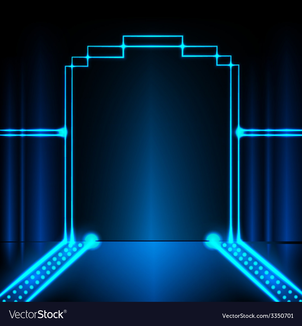 Neon stage background vector | Price: 1 Credit (USD $1)