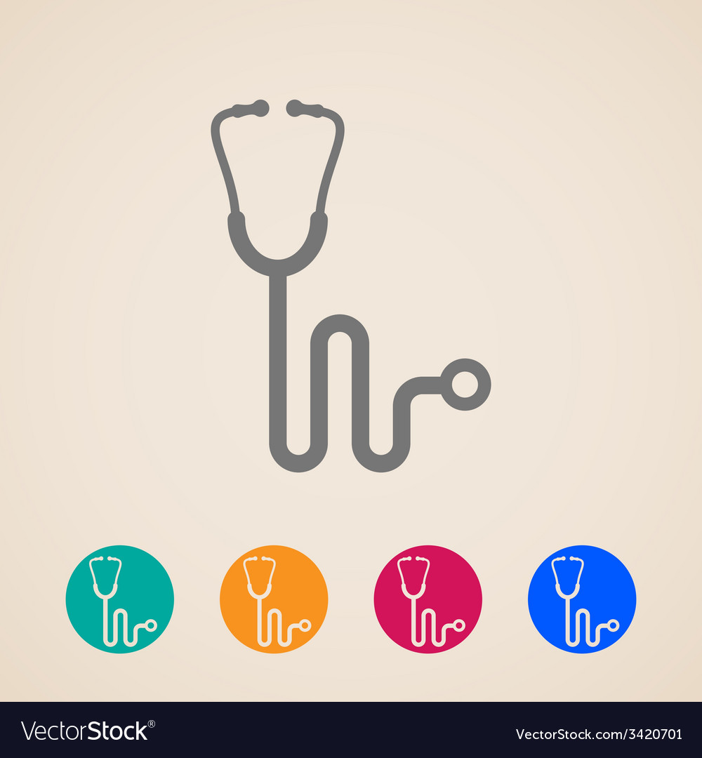 Stethoscope icons vector | Price: 1 Credit (USD $1)