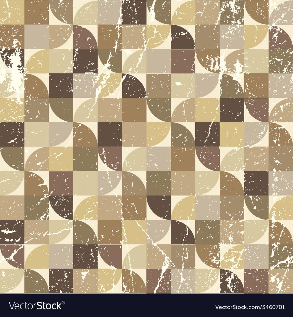 Vintage tattered seamless pattern geometric vector | Price: 1 Credit (USD $1)
