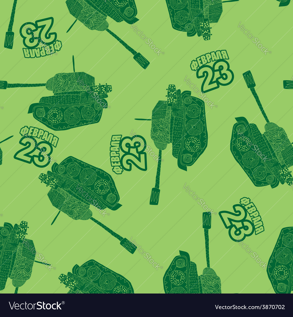 23 february seamless background from the tanks the vector | Price: 1 Credit (USD $1)
