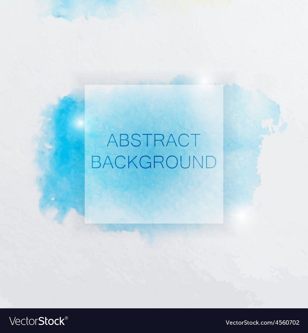 Abstract watercolor background with blue splash vector | Price: 1 Credit (USD $1)