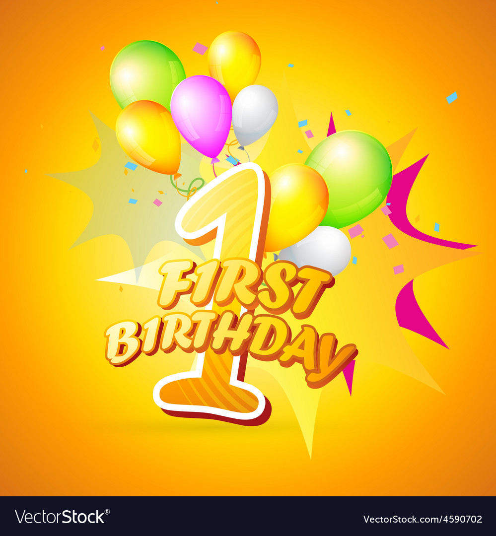 Background of first birthday vector   Price: 1 Credit (USD $1)