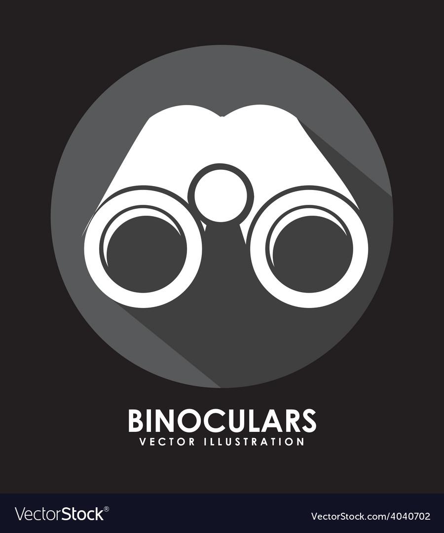 Binoculars icon vector | Price: 1 Credit (USD $1)