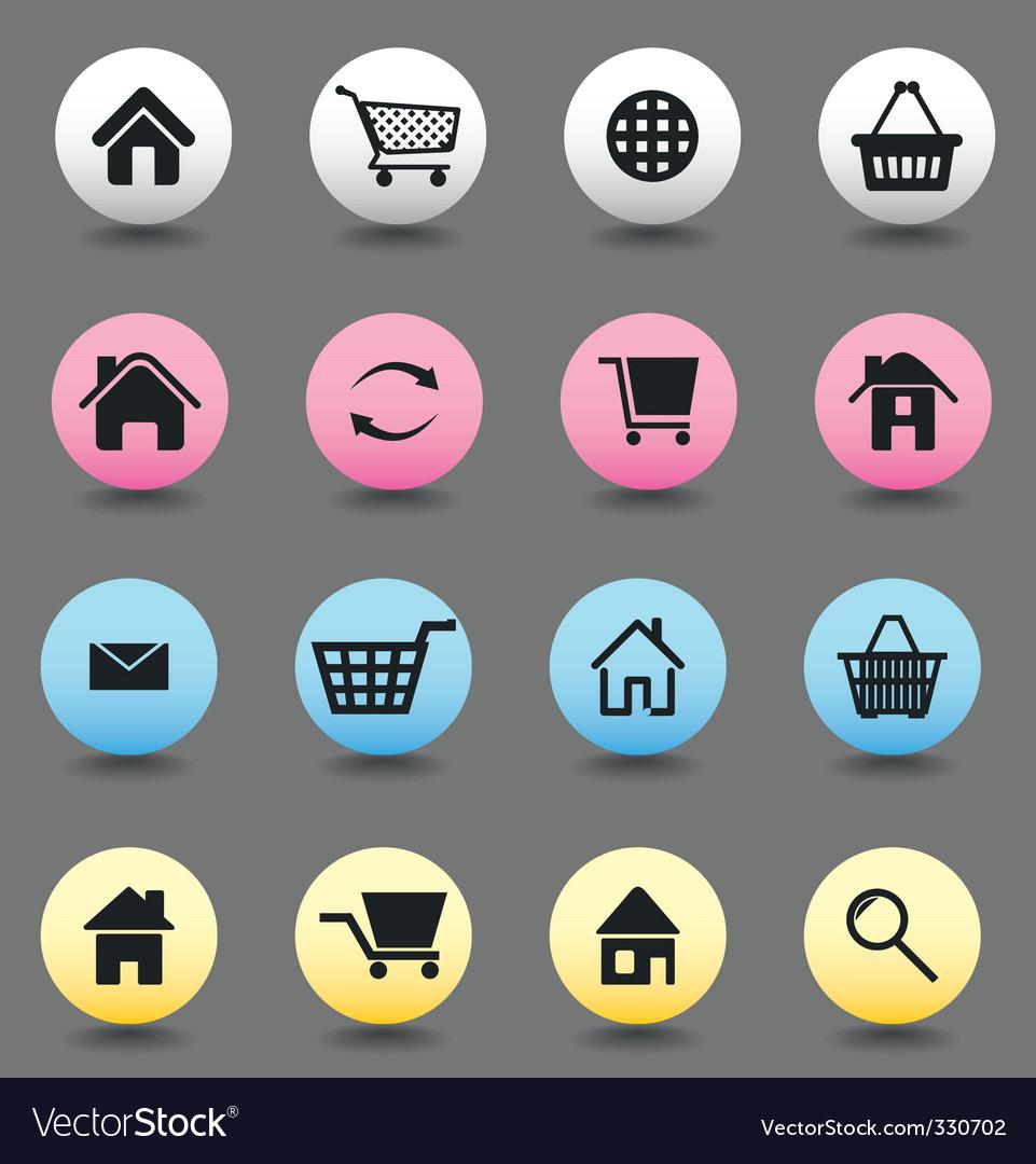 Button internet vector | Price: 1 Credit (USD $1)