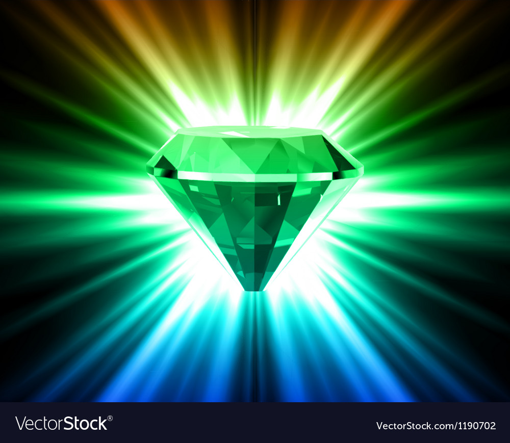 Colorful diamond on bright background vector | Price: 1 Credit (USD $1)