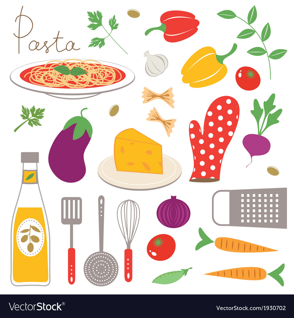 Colorful kitchen collection vector | Price: 1 Credit (USD $1)
