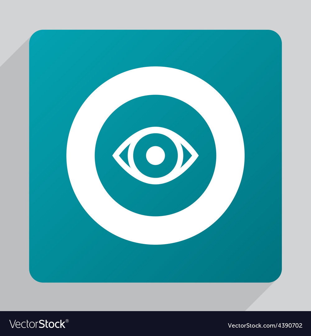 Flat eye icon vector | Price: 1 Credit (USD $1)