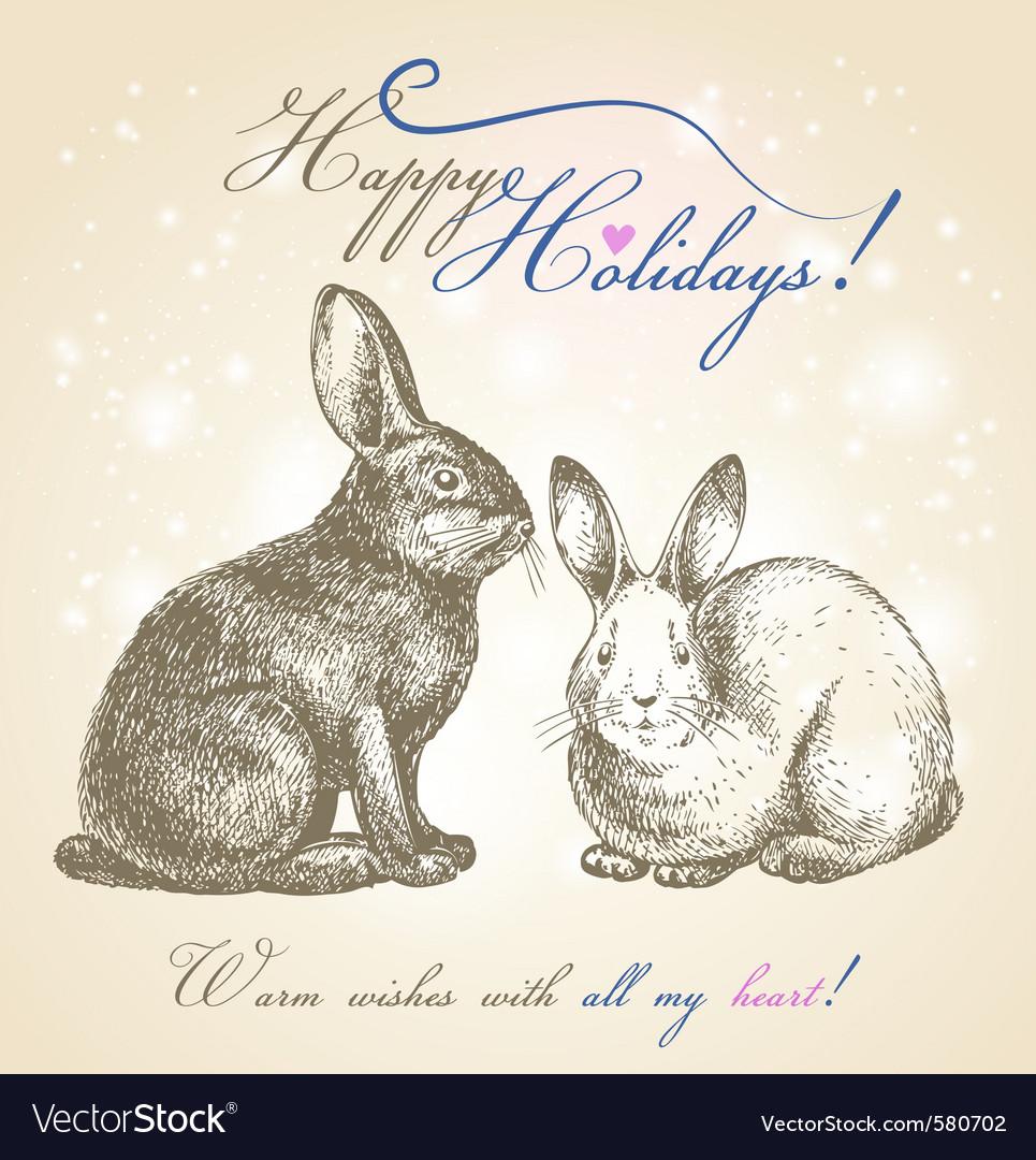 Happy holidays vector | Price: 1 Credit (USD $1)