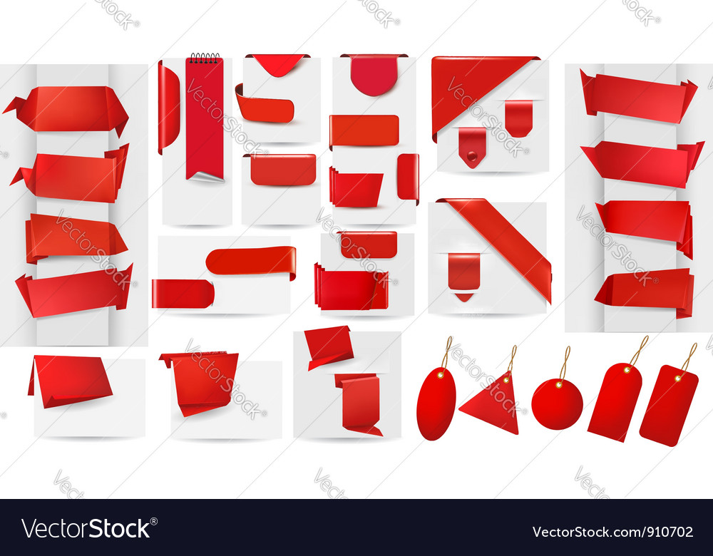 Origami banners vector   Price: 1 Credit (USD $1)