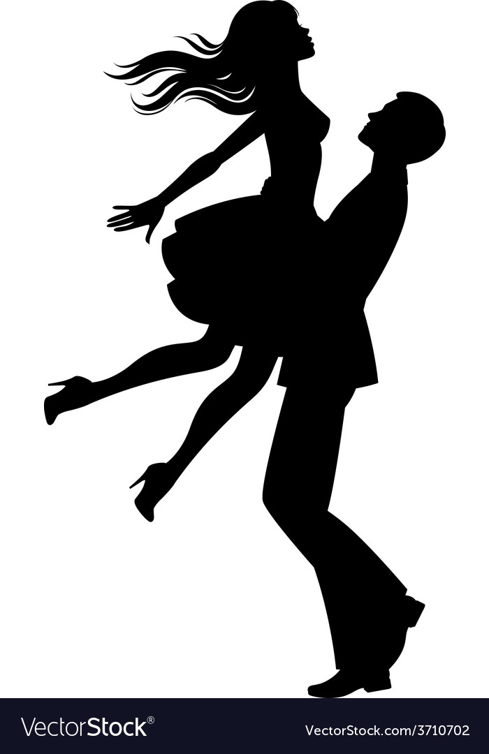 Silhouette of couple in love vector | Price: 1 Credit (USD $1)