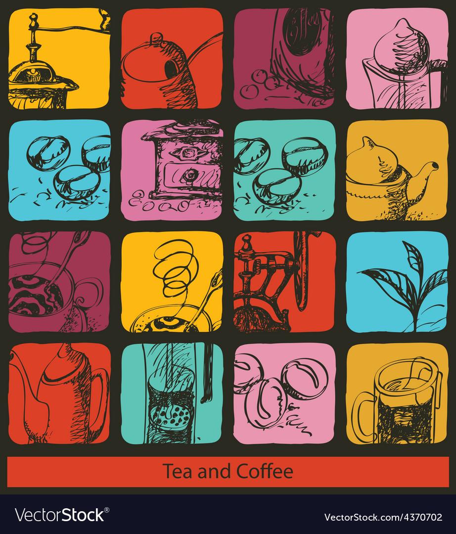 Tea coffee signs vector | Price: 1 Credit (USD $1)