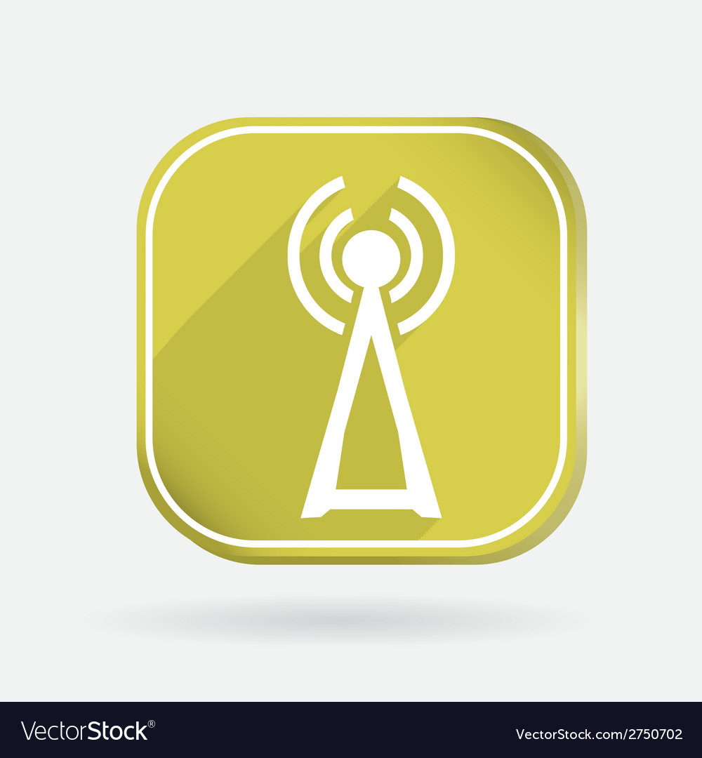 Tower of the wi fi color square icon vector | Price: 1 Credit (USD $1)