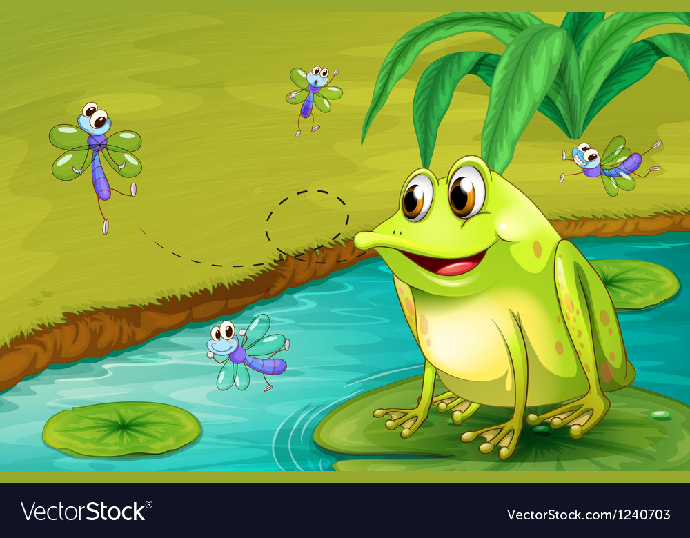 A frog waiting for his meal vector | Price: 1 Credit (USD $1)