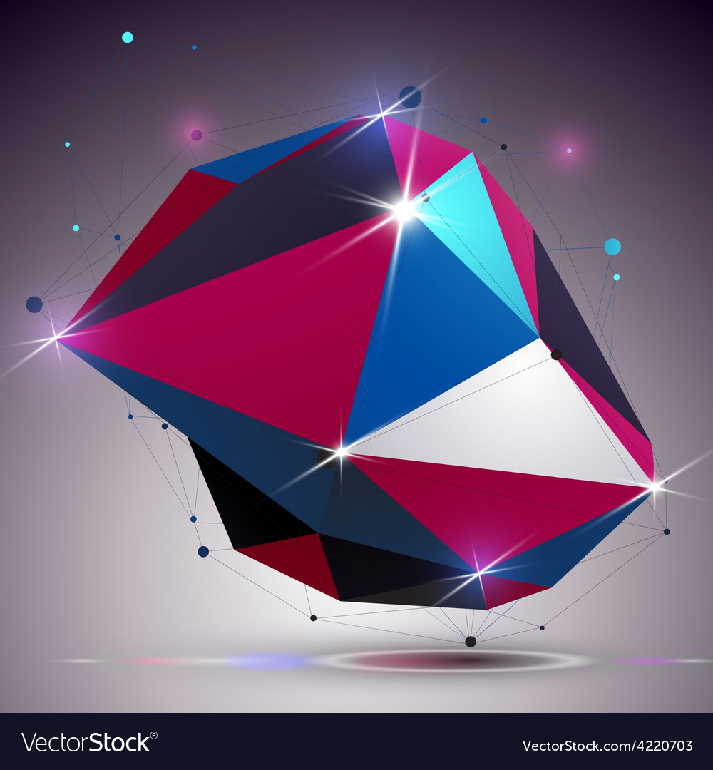 Asymmetric 3d technology glossy shape with vector | Price: 1 Credit (USD $1)