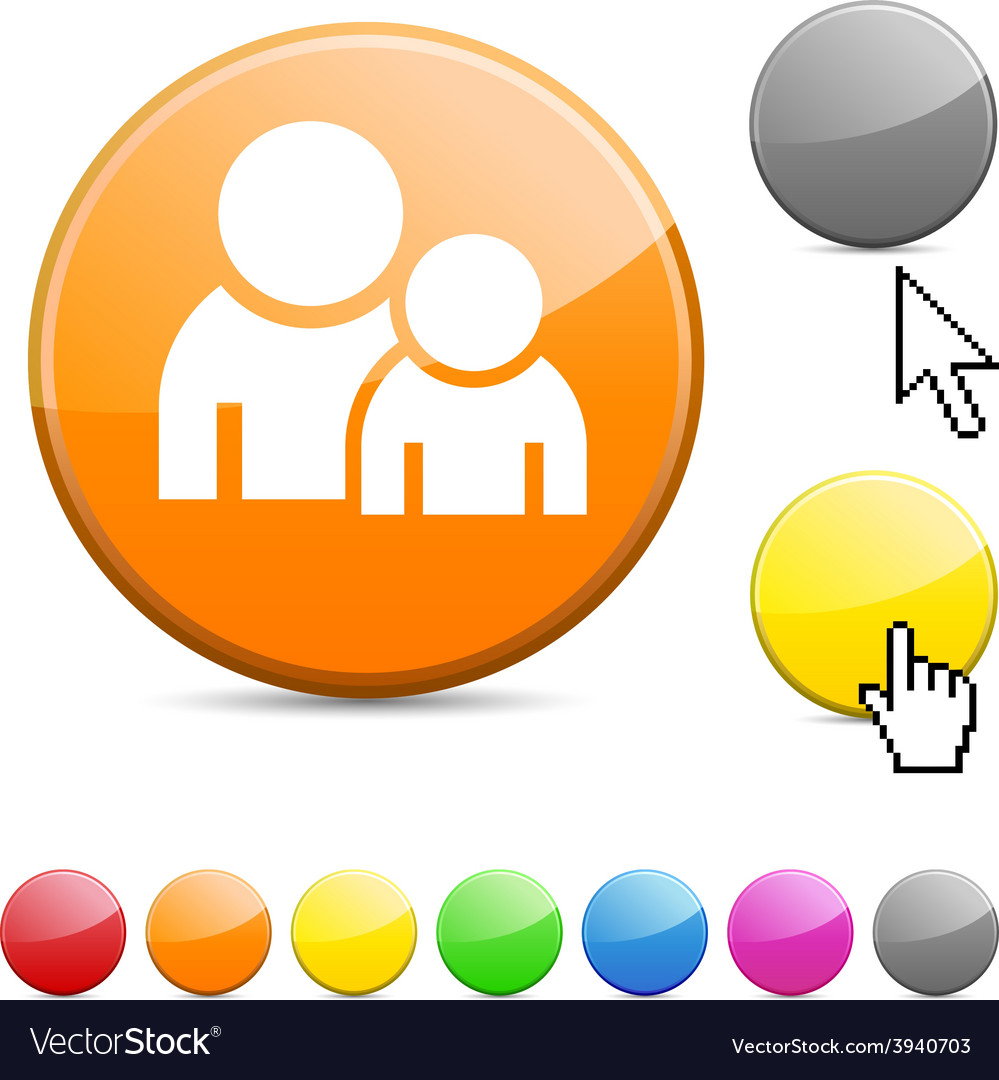 Forum glossy button vector | Price: 1 Credit (USD $1)
