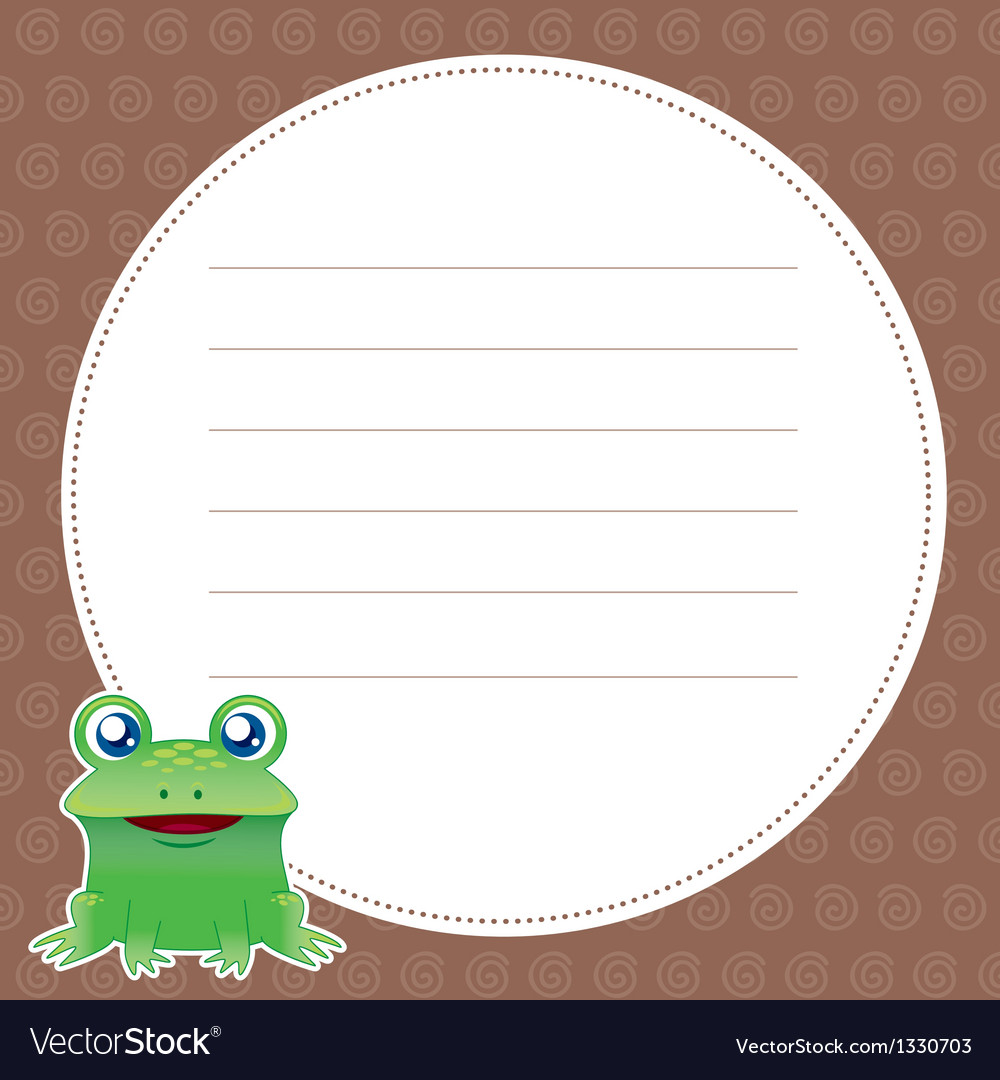 Frog with white blank vector | Price: 3 Credit (USD $3)