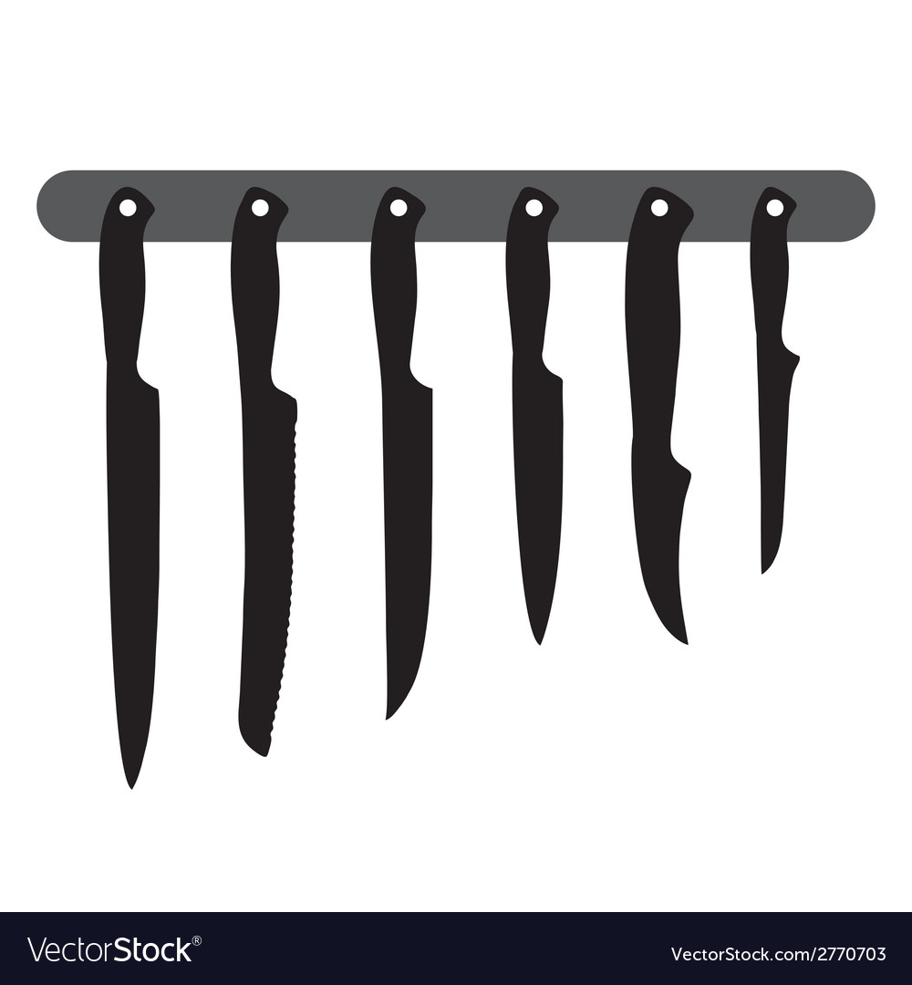 Kitchen knives vector | Price: 1 Credit (USD $1)