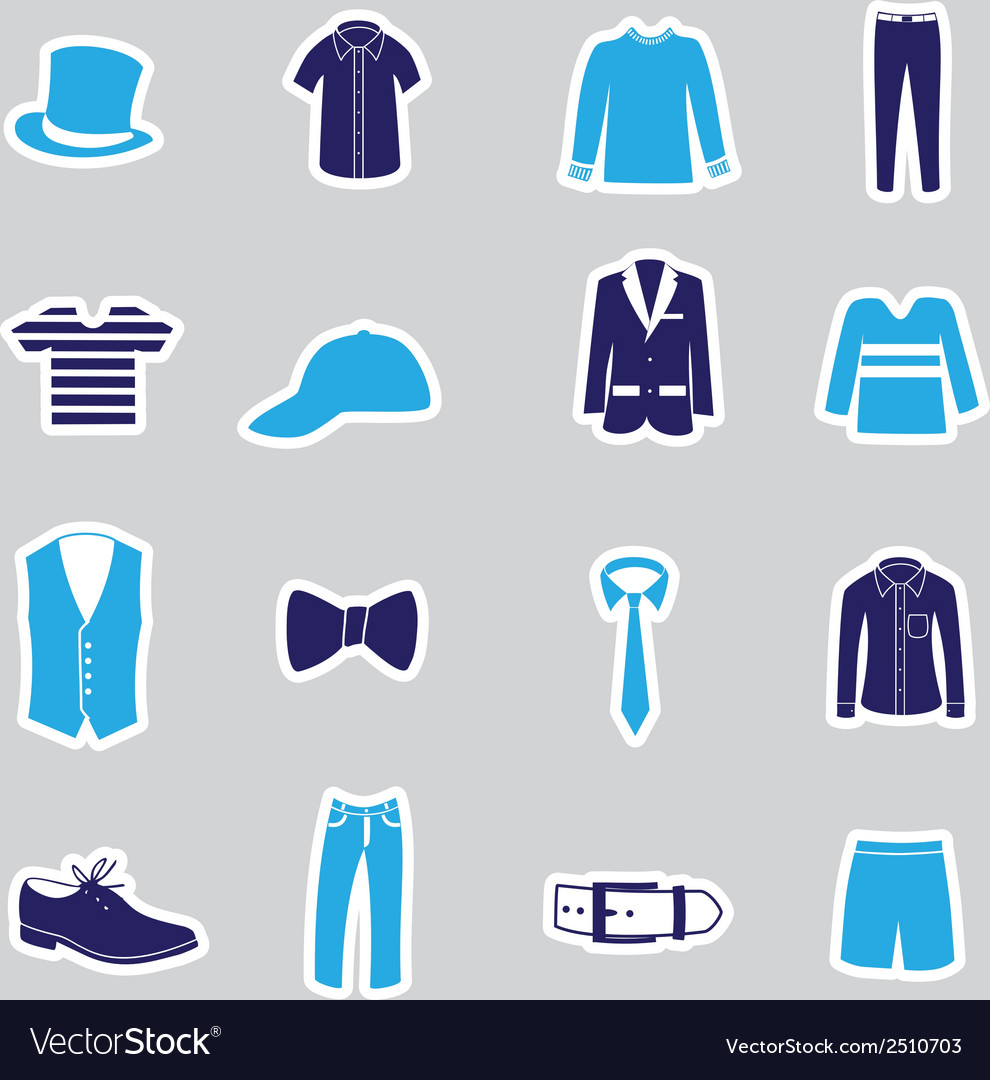 Mens clothing stickers eps10 vector | Price: 1 Credit (USD $1)