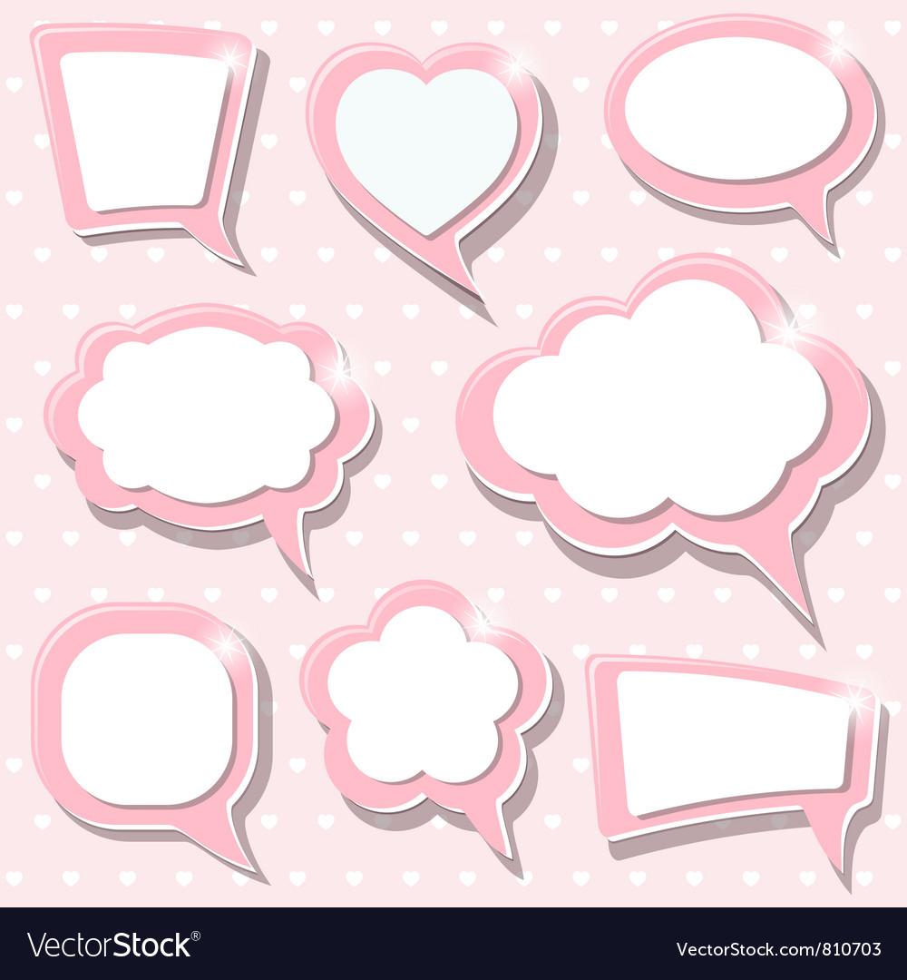 Pink frames vector | Price: 1 Credit (USD $1)