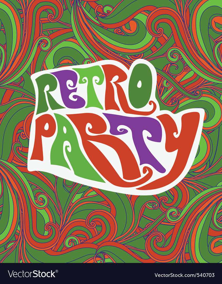 Retro party pattern vector | Price: 1 Credit (USD $1)